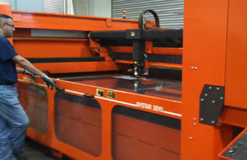 Orange laser cutting machine