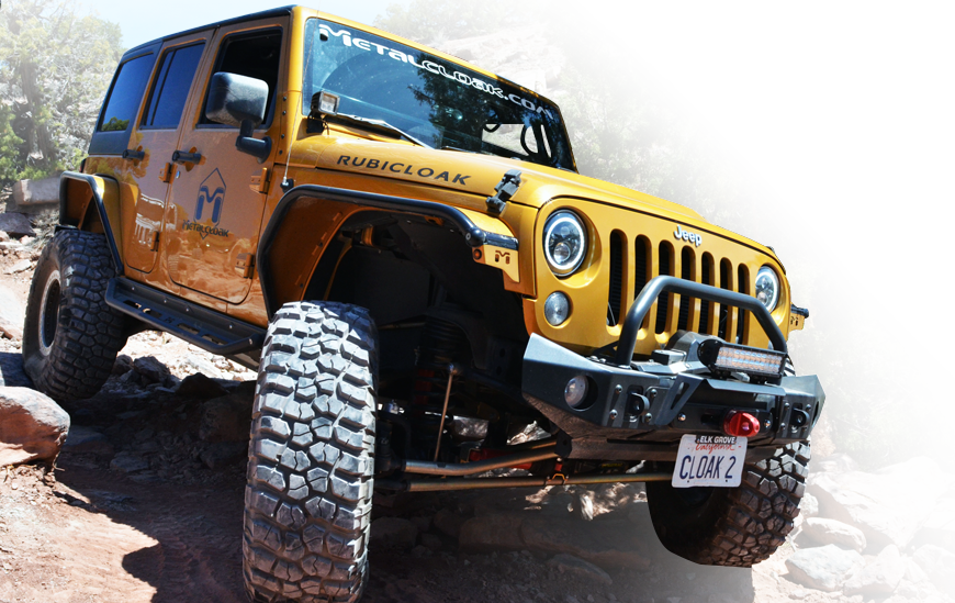 Gold Cloaked JK Wrangler fully equipped with MetalCloak parts