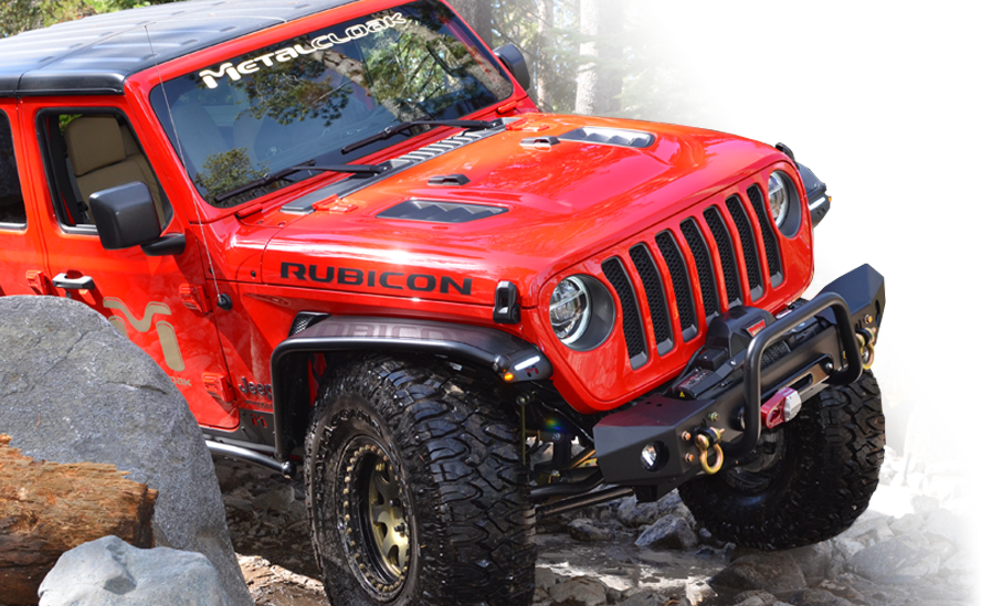 red metalcloak Jeep JL Wrangler