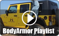 Body armor playlist with yellow Jeep
