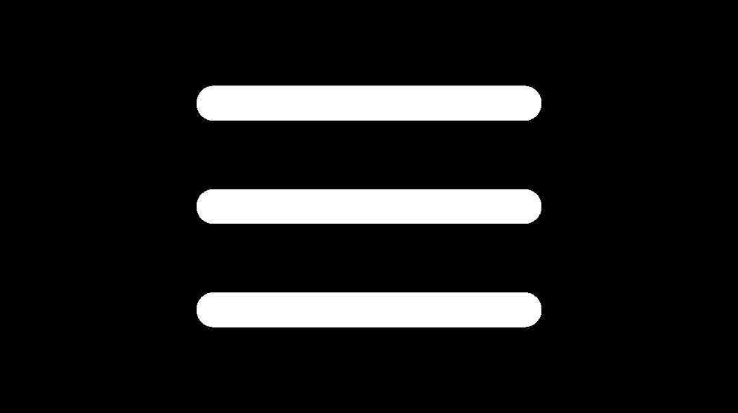hamburger menu icon white