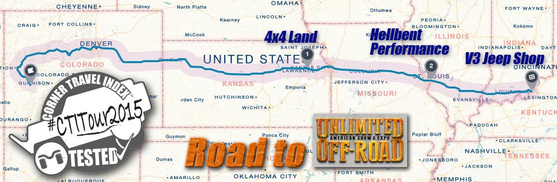 CTI Tour 2015 Map