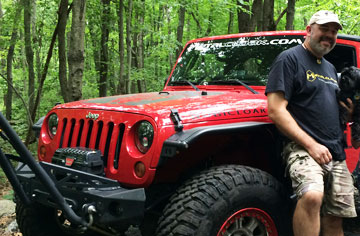 Matson at the Jeep