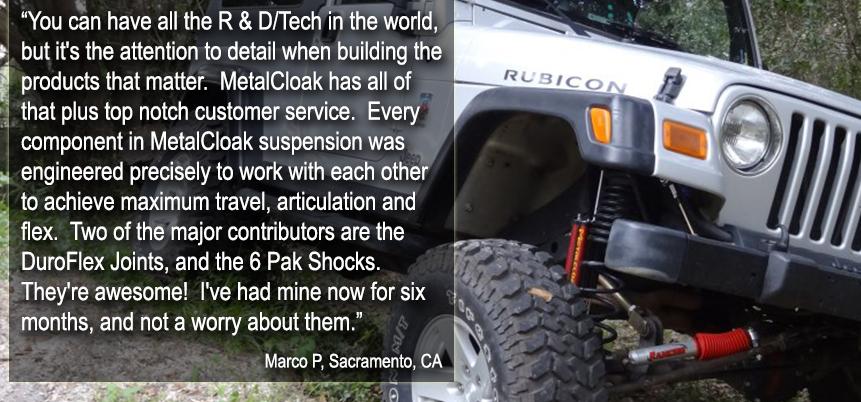 Metalcloak Suspension Testimonial