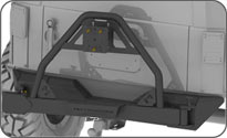 JK Wrangler Rear Jeep Tire Carrier Bumper