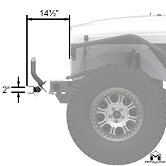 Tow Bar Adapter Side View
