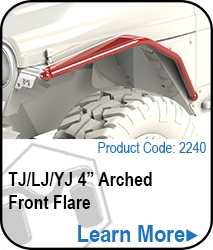 4in Arched Front Flare