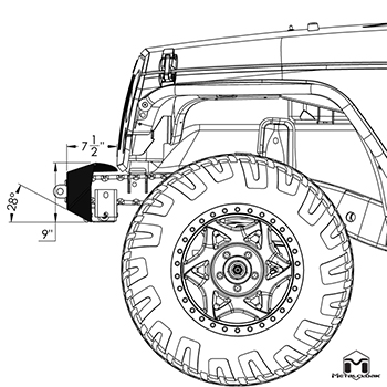 3165 SIDE SCHEMATIC VIEW