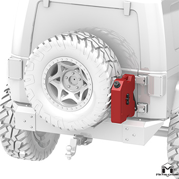 Roto-Pax Bracket on Jeep