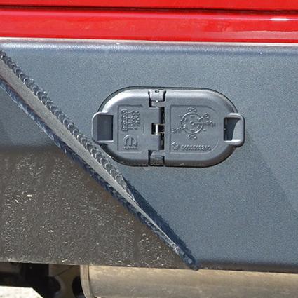 MetalCloak JL Wranger Full Width Rear Bumper Trailer Plug