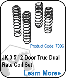 JK 2 Door 3.5in True Dual Rate Coils