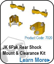 JK 6Pak Rear Shock Mount & Clearance Kit