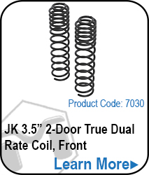 JK Front 2 Door 3.5 True Dual Rate Coils