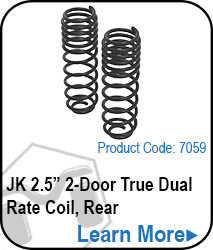 JK Rear 2 Door 2.5 True Dual Rate Coils