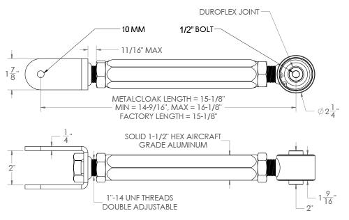 TJ Control Arm Specs