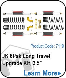 JK 6Pak Long Travel Upgrade Kit