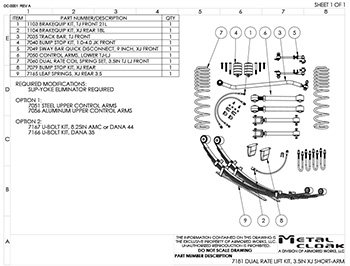 7180 XJ Suspension Build Kit