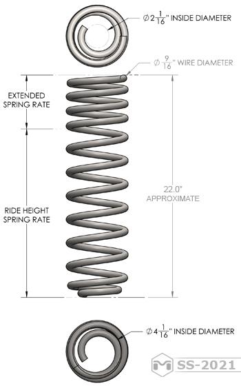 SS-2002 - JK Wrangler Dual Rate Rear Coils