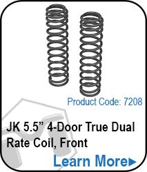 JK Rear 4 Door 5.5 True Dual Rate Coils
