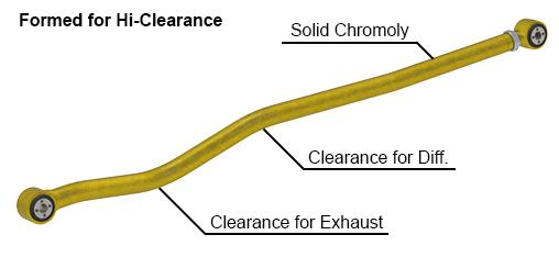 JL Wrangler Hi Clearance Rear Track Bar