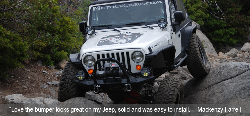 MetalCloak LJ Bumper on Rubicon Trail