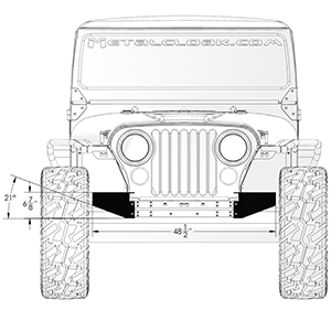 CJ 52 Hi-Crawler Caps front