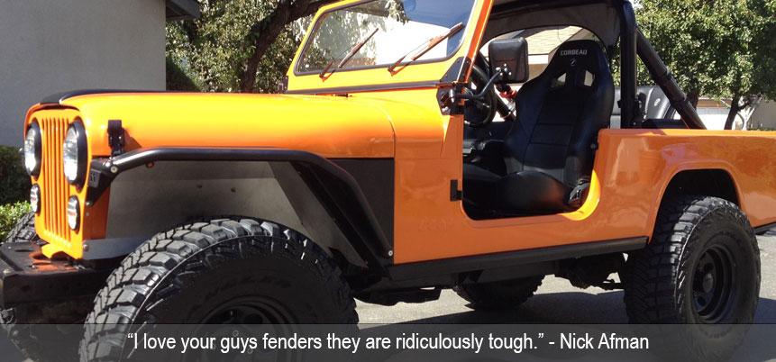 Jeep Wrangler Body Armor >> CJ Fenders & Body Armor
