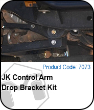 JK Control Arm Drop Bracket Kit Press Release