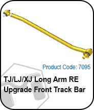 TJ/LJ/XJ Long Arm RE Upgrade Front Track Bar Press Release