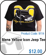 MetalCloak Yellow Icon Jeep Tee