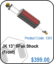 JK 13in 6Pak Front Shocks