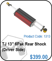 TJ Rear 13in 6Pak Driver Side Shocks