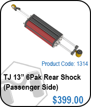 TJ Rear 13in 6Pak Passenger Side Shocks