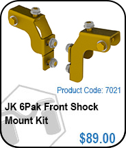 JK 6Pak Front Shock Mount Kit