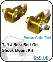 TJ Rear Bolt On Shock Mount Kit