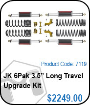 JK 6Pak 3.5 Long Travel Upgrade Kit