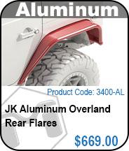 JK Aluminum Overland Rear Flares