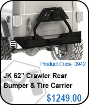 JK Rear Bumper & Tire Carrier