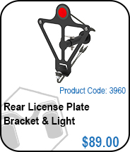 Rear License Plate Bracket & Light