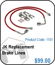 JK Replacement Brake Lines