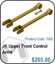 JK Upper Front Control Arms