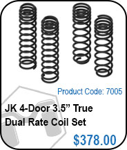 JK 4 Door 3.5in True Dual Rate Coils