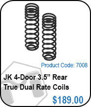 JK Rear 4 Door 3.5 True Dual Rate Coils