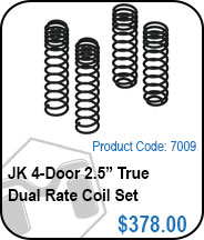 JK 4 Door 2.5in True Dual Rate Coils