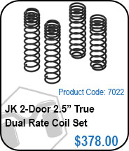 JK 2 Door 2.5in True Dual Rate Coils