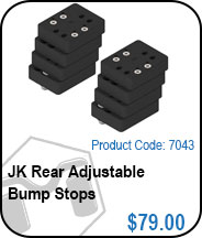 JK Rear Adjustable Bump Stops