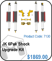 JK 6Pak Rear Shock Upgrade Kit
