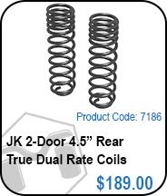 JK Rear 4 Door 4.5 True Dual Rate Coils