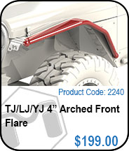 4 Inch Arch Flare