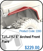 6 Inch Arched Flare